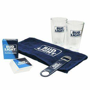 NIB! BUD LIGHT Beer Lover 5pcs Gift Set